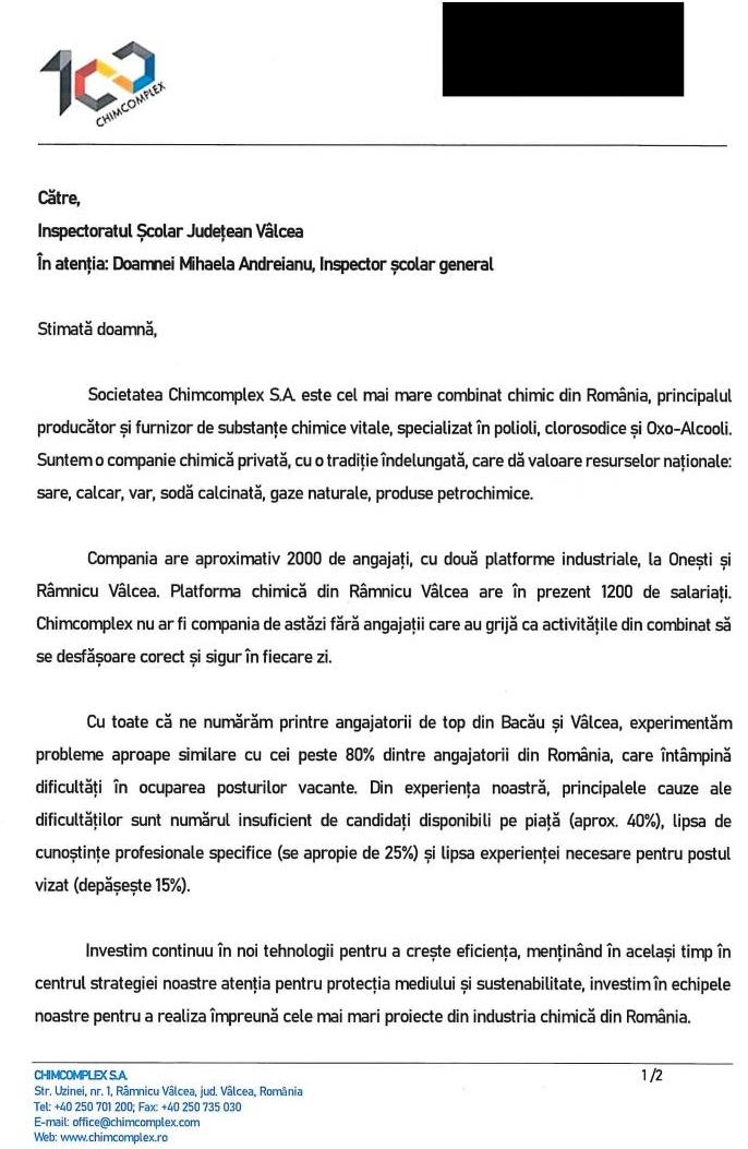 13.04.2021 Adresa Combinat ISJV 2021