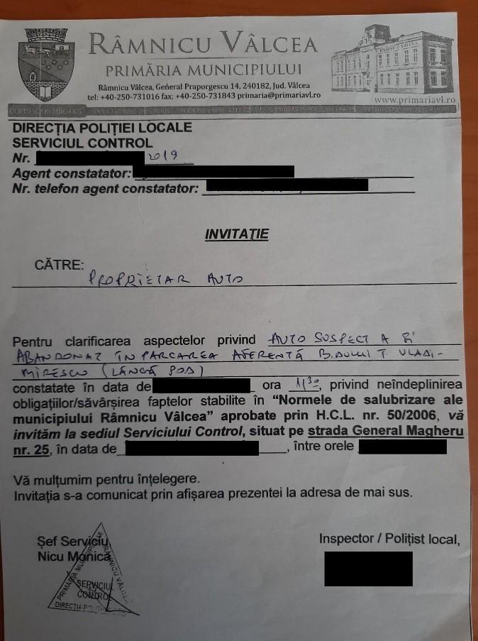 11.08.2021 CITAȚIE Poliția Locală